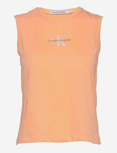 MONOGRAM TANK TOP - t-shirts & tops - crushed orange