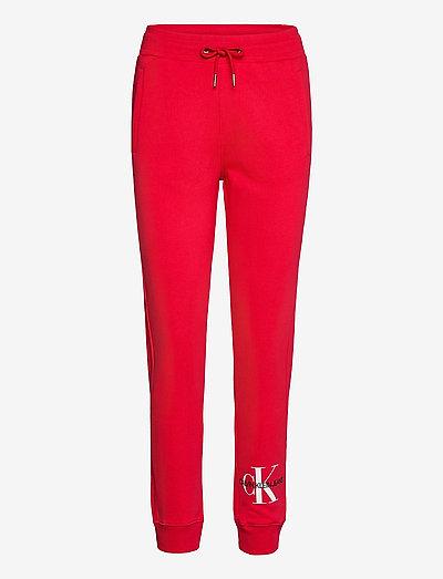 MONOGRAM JOG PANT - clothing - racing red