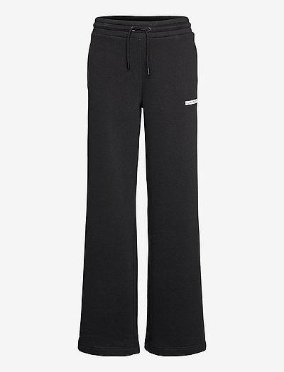 MICRO FLOCK JOG PANTS - casual bukser - ck black