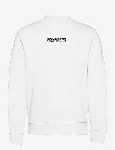 MICRO MIRRORED LOGO MOCK NECK - swetry - bright white