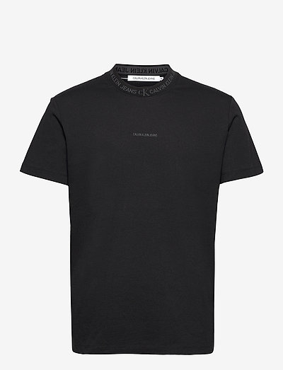 LOGO JACQUARD TEE - t-shirts - ck black