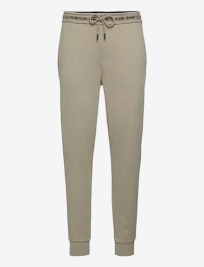 LOGO JACQUARD HWK PANT - vêtements - elephant skin