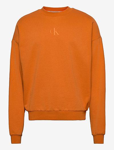 CK SLICED BACK GRAPHIC CN - sweats - rusty orange
