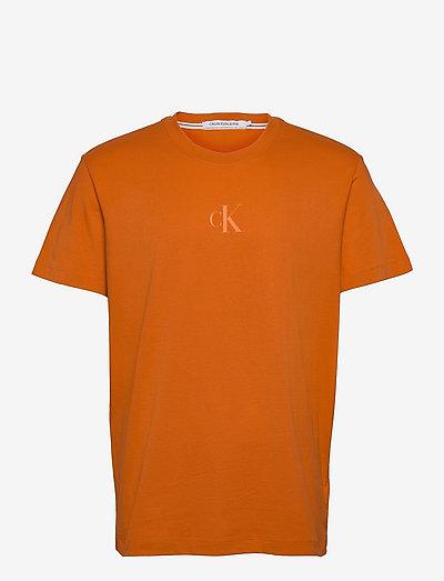 CK SLICED BACK GRAPHIC TEE - podstawowe koszulki - rusty orange