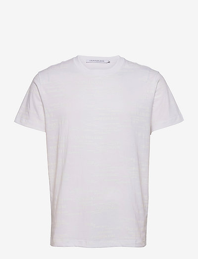 LOGO AOP TEE - krótki rękaw - bright white
