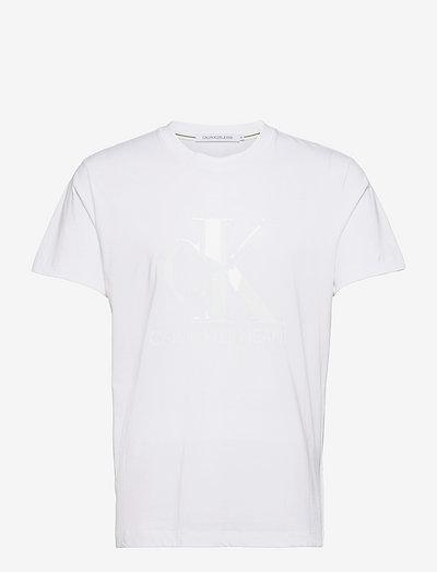 CK MONOGRAM WATERBASE TEE - t-shirts à manches courtes - bright white