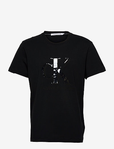 CK MONOGRAM WATERBASE TEE - t-shirts à manches courtes - ck black
