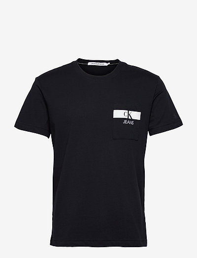 HORIZONTAL CK POCKET TEE - t-shirts basiques - night sky