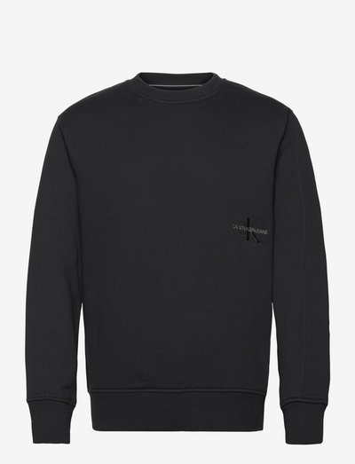 OFF PLACED ICONIC CREW NECK - truien - ck black