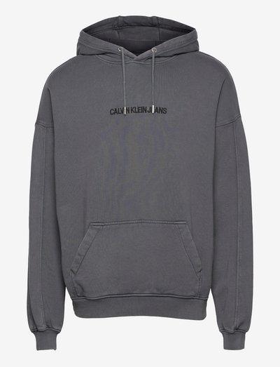 ACID WASH HOODIE - hoodies - washed black