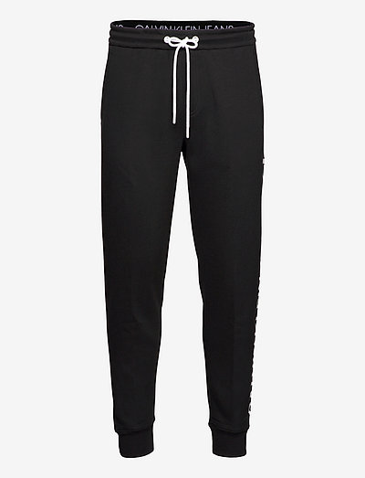 CK VERTICAL LOGO HWK PANT - vêtements - ck black