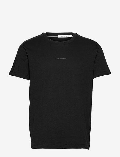 LOGO JACQUARD SHOULDER TEE - t-shirts basiques - ck black