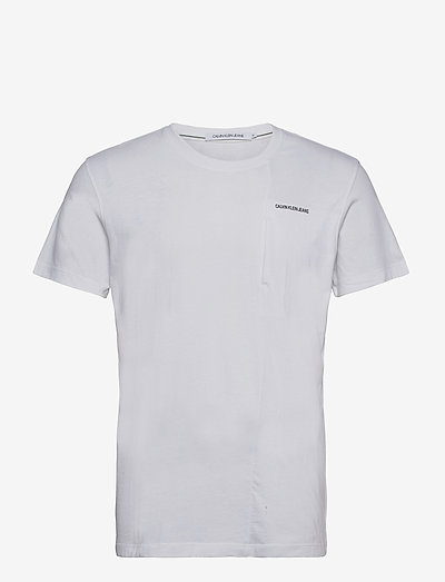 HORIZONTAL MICRO SIDE POCKET TEE - t-shirts basiques - bright white