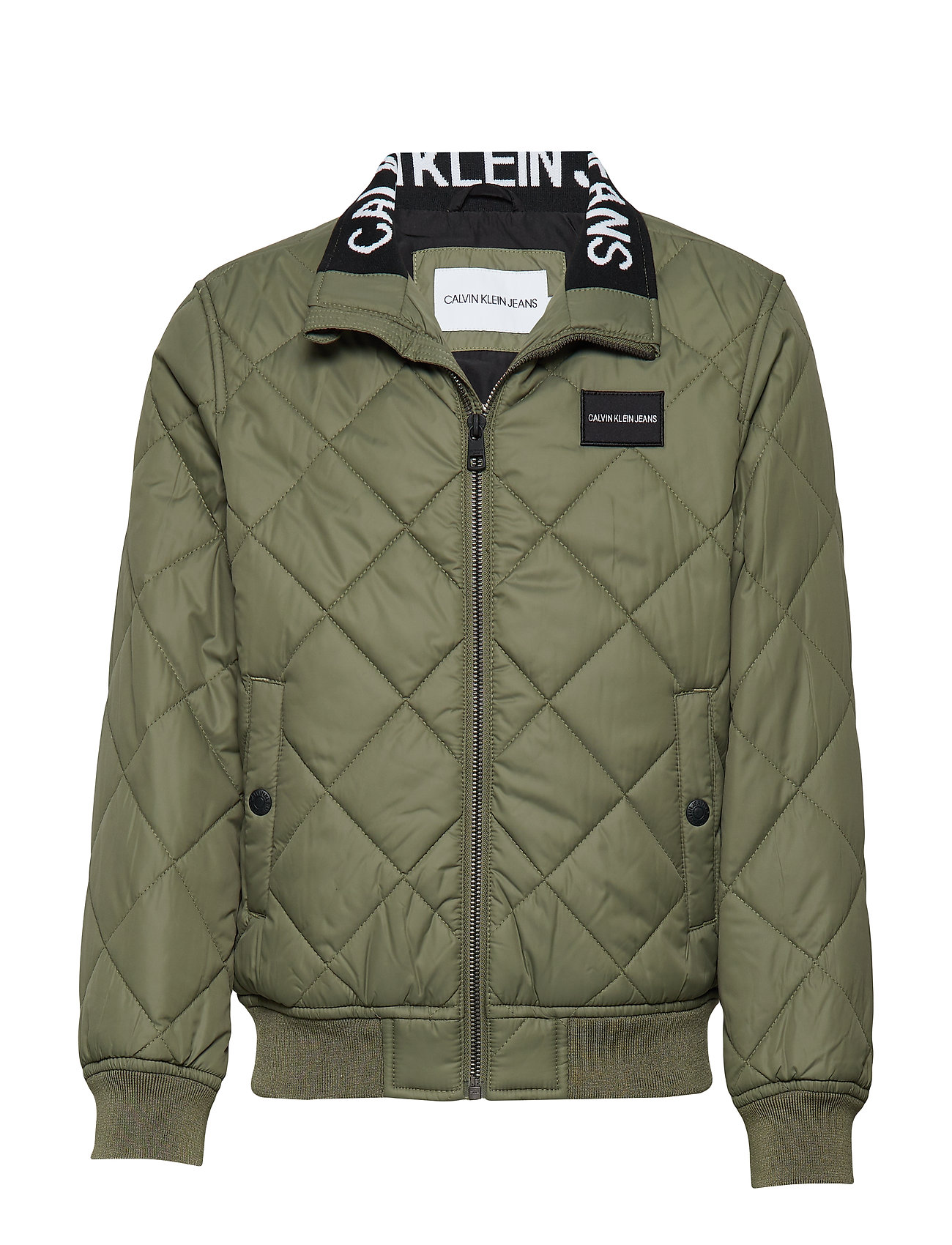 Calvin Klein RECYCLED QUILTED PAD - DUSTY OLIVE