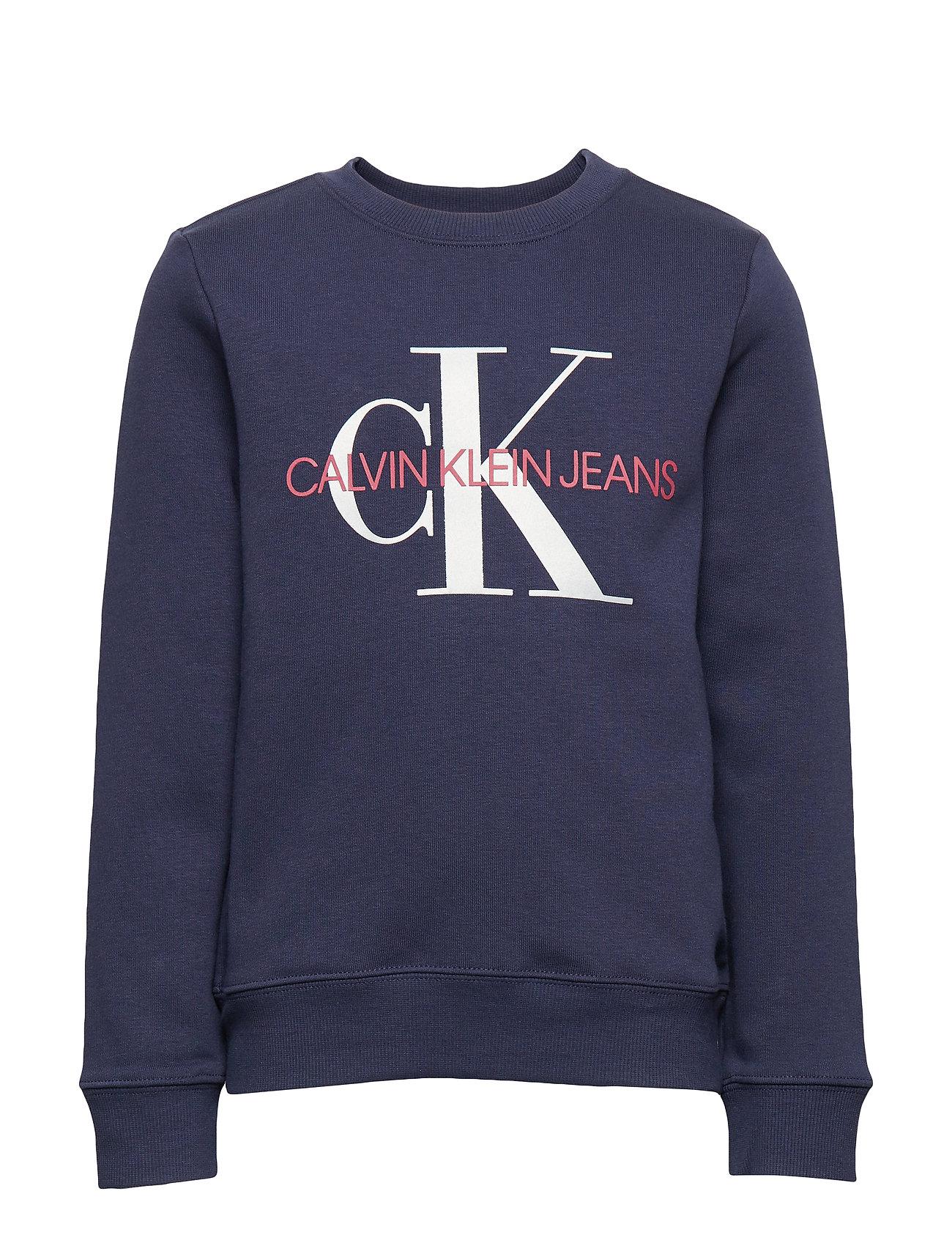 Calvin Klein MONOGRAM SWEATSHIRT - PEACOAT