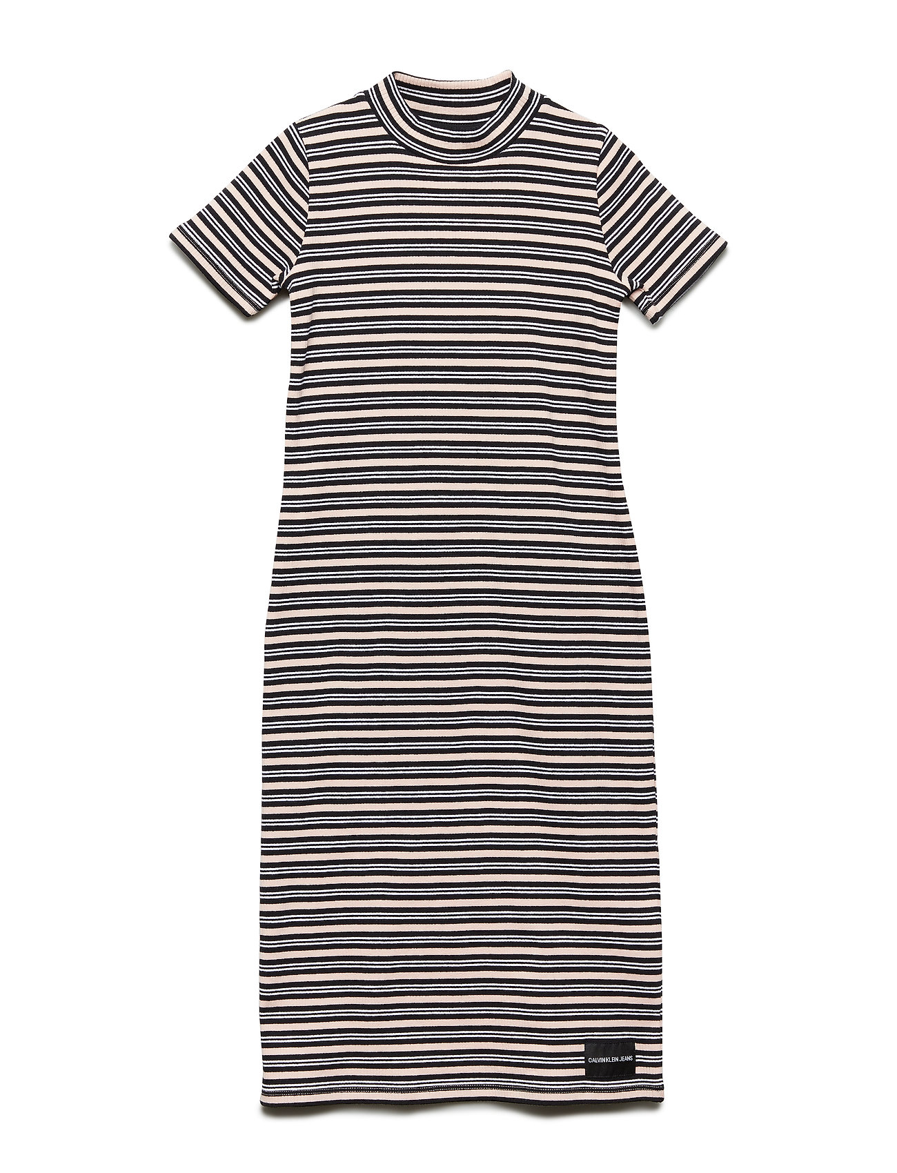 Calvin Klein COTTON RIB STRIPE MA - BLACK BEAUTY