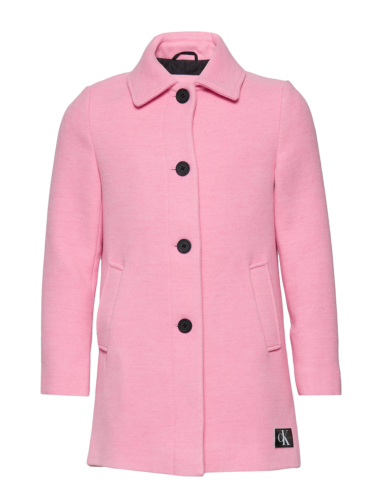 Calvin Klein A-LINE SHORT COAT GI - BEGONIA PINK