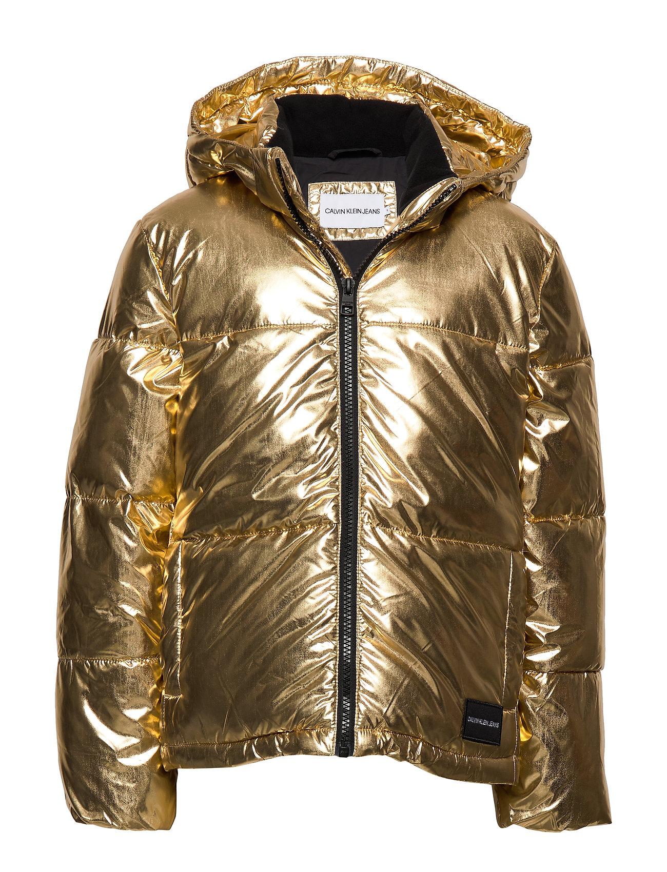 Calvin Klein GOLD PUFFER JACKET - GOLD