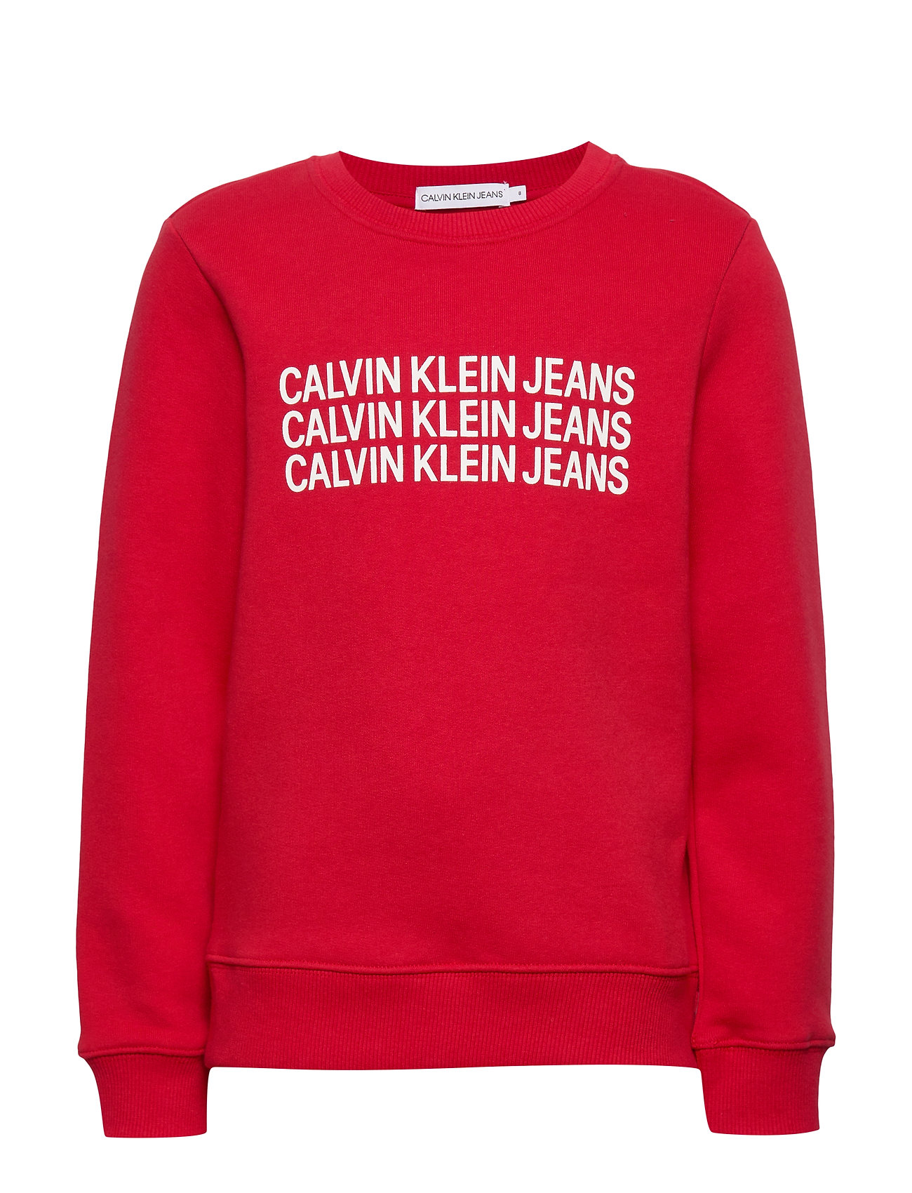 Calvin Klein TRIPLE LOGO SWEATSHIRT - BARBADOS CHERRY