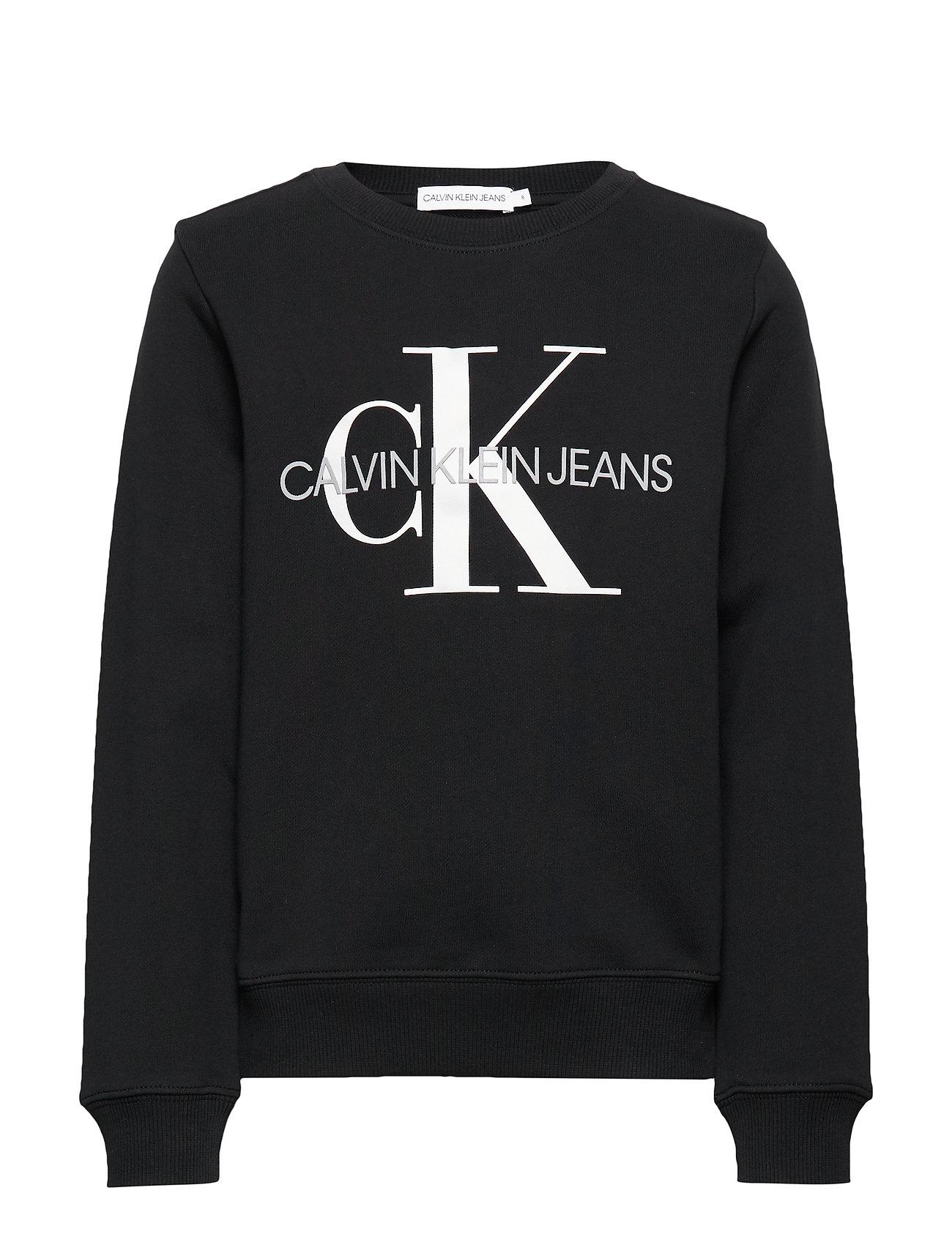 Calvin Klein MONOGRAM LOGO SWEATSHIRT - CK BLACK