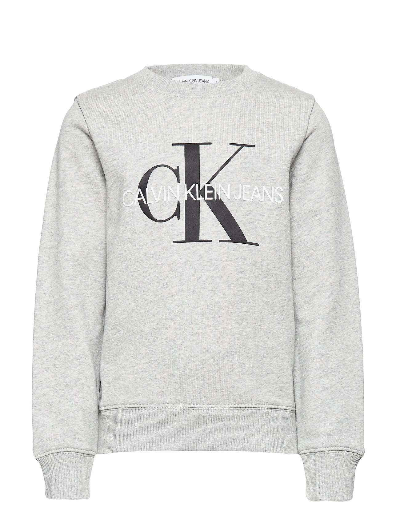 Calvin Klein MONOGRAM LOGO SWEATSHIRT - LIGHT GREY HEATHER