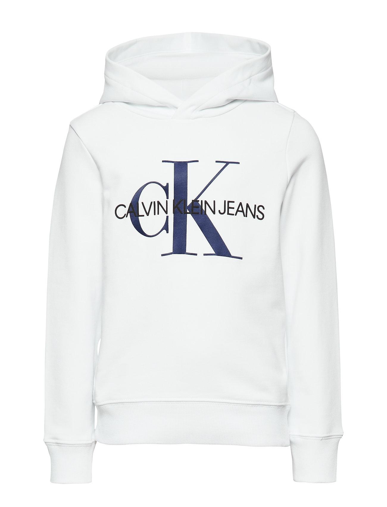 Calvin Klein MONOGRAM HOODIE - BRIGHT WHITE