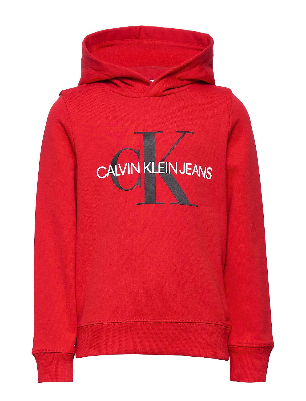 Calvin Klein MONOGRAM HOODIE - RUSTIC RED