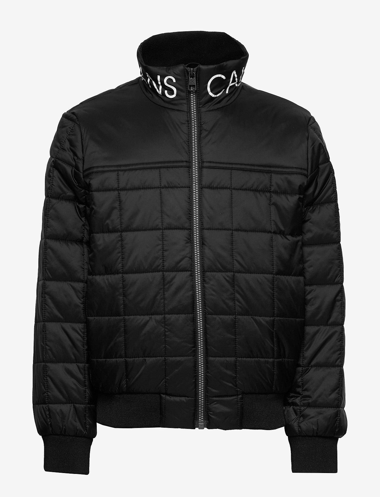Calvin Klein - SQUARE QUILT LIGHT JACKET - dunjakker & forede jakker - ck black - 0