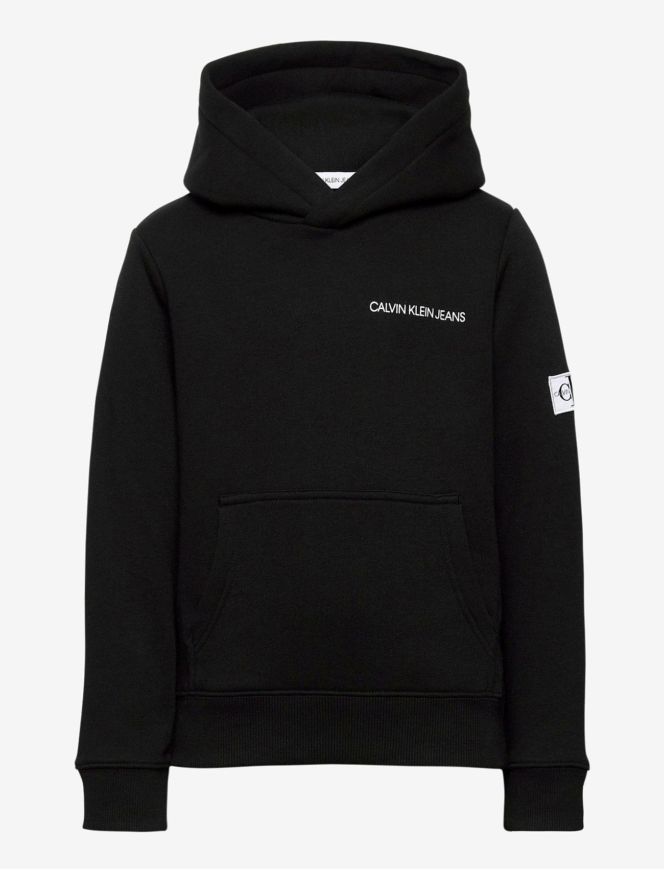 Calvin Klein - MONOGRAM SLEEVE HOODIE - hoodies - ck black - 0