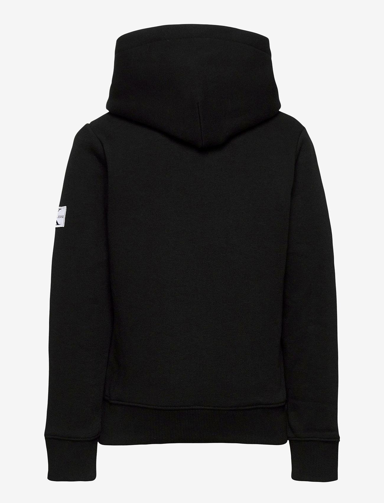 Calvin Klein - MONOGRAM SLEEVE HOODIE - hoodies - ck black - 1