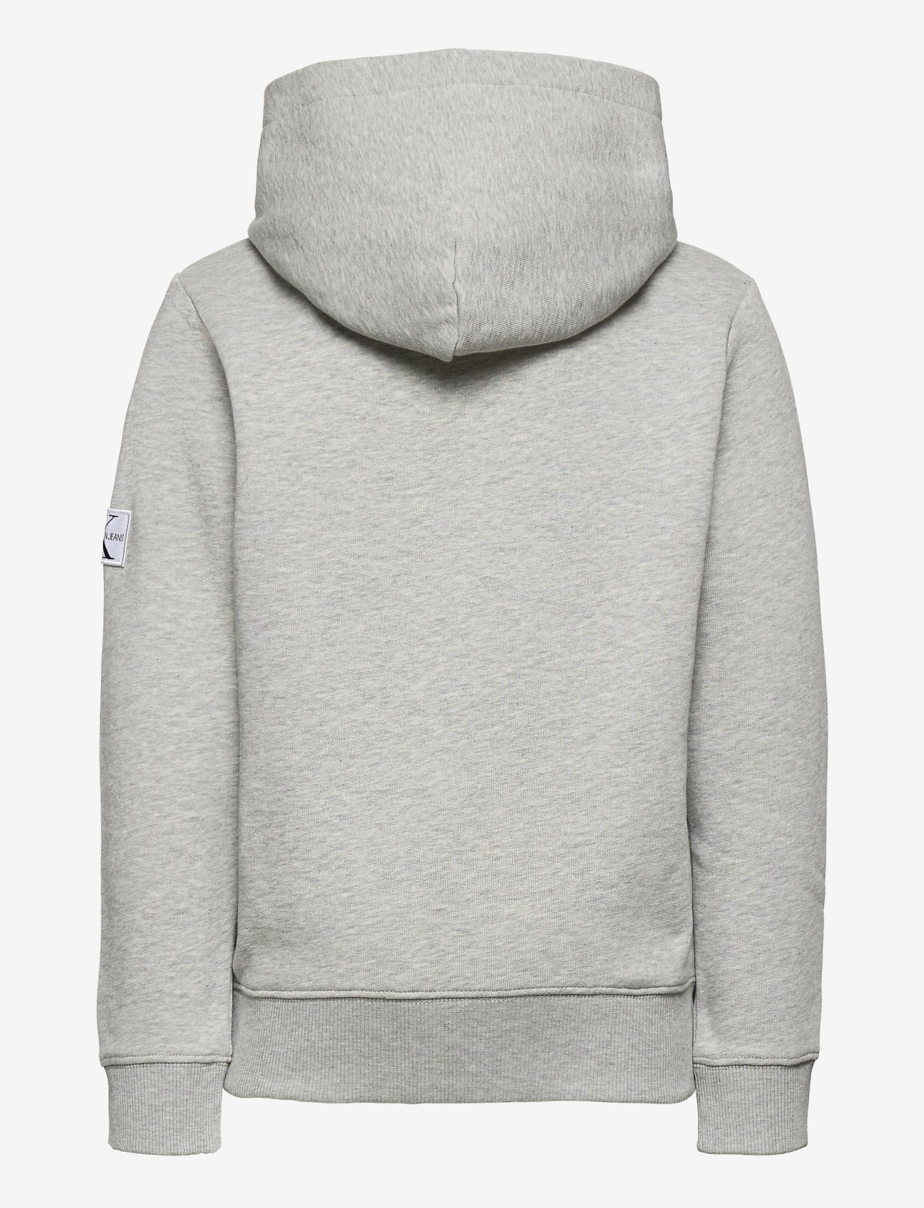 Calvin Klein - MONOGRAM SLEEVE HOODIE - hoodies - light grey heather - 1