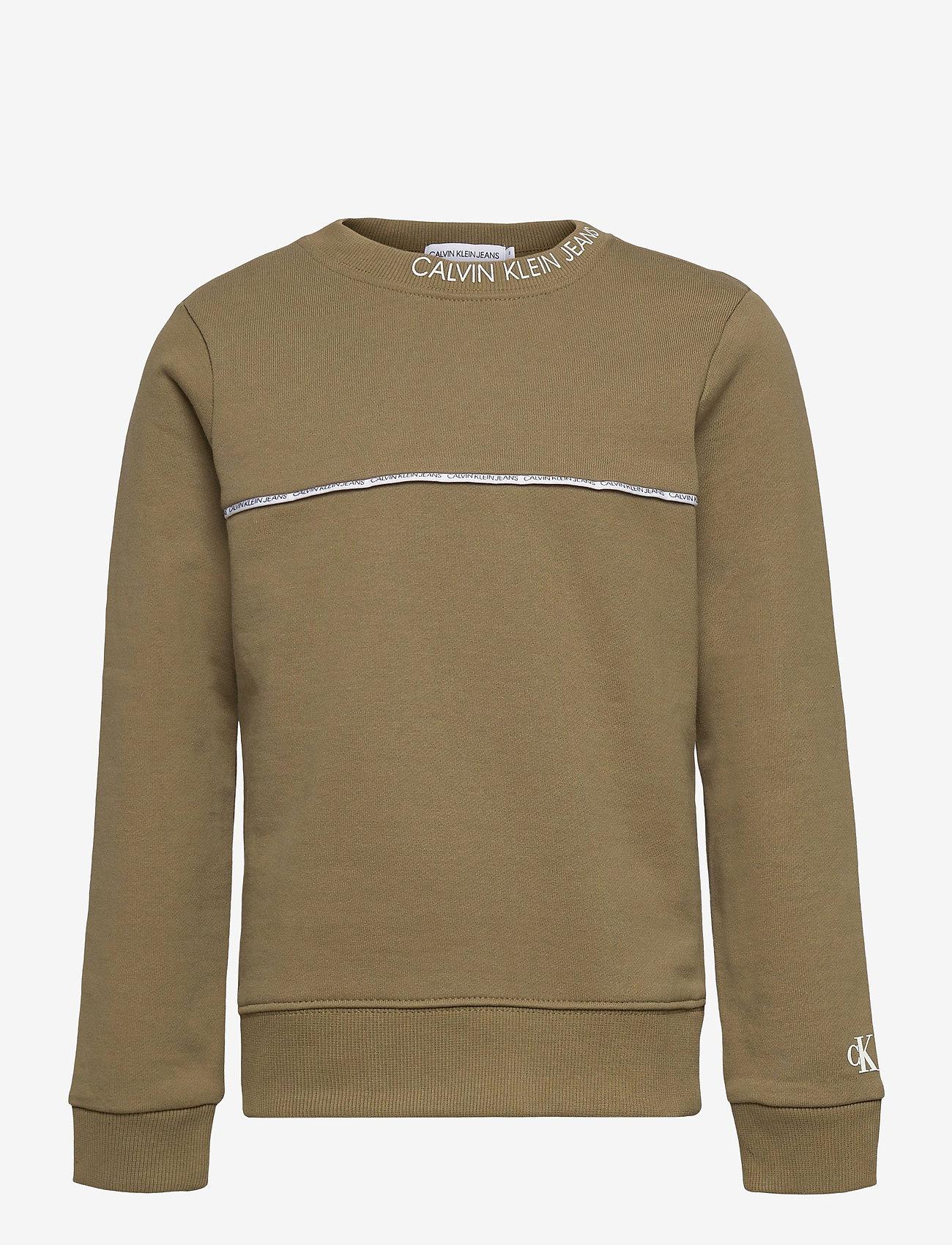 Calvin Klein - LOGO PIPING SWEATSHIRT - sweatshirts - olive khaki - 0