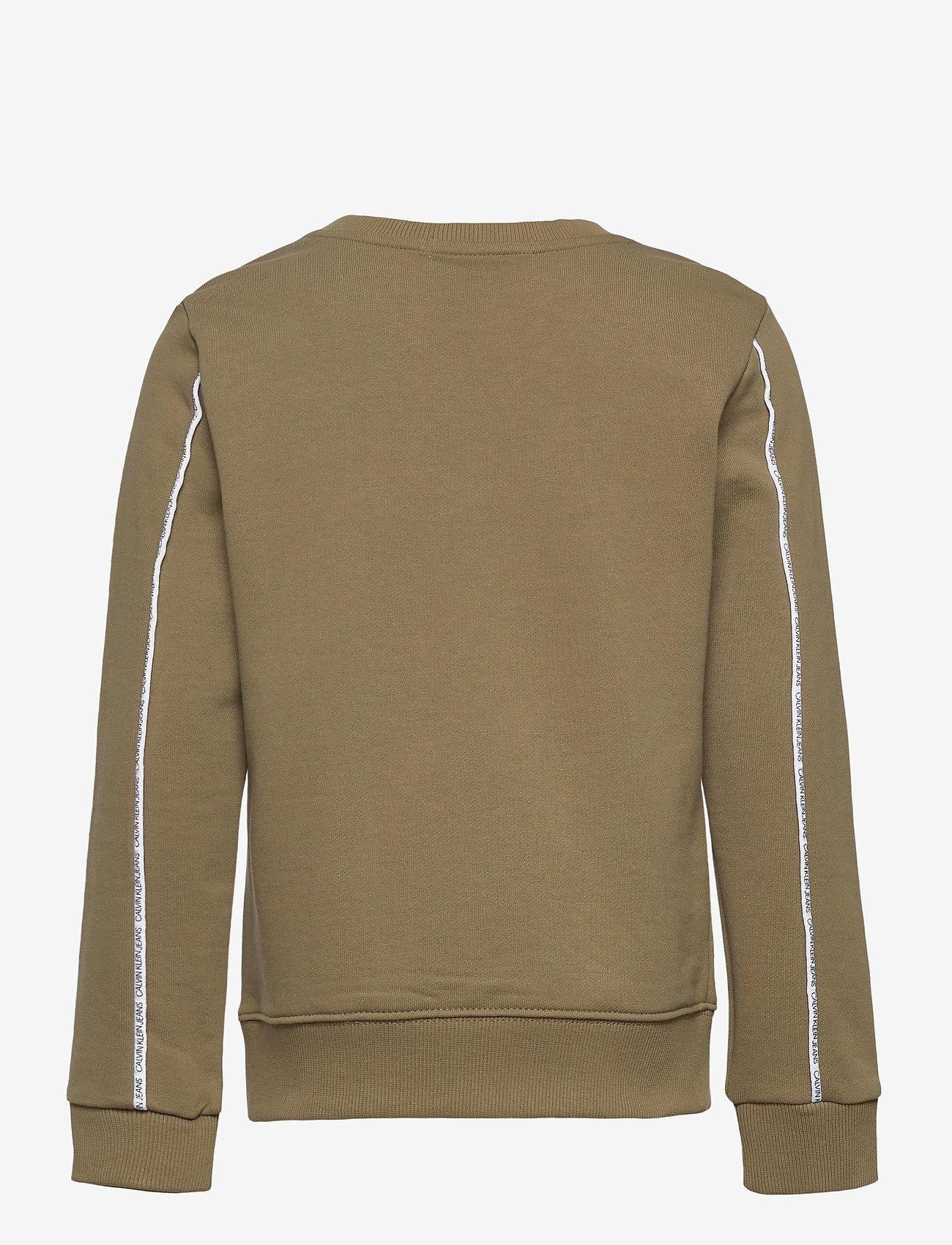 Calvin Klein - LOGO PIPING SWEATSHIRT - sweatshirts - olive khaki - 1