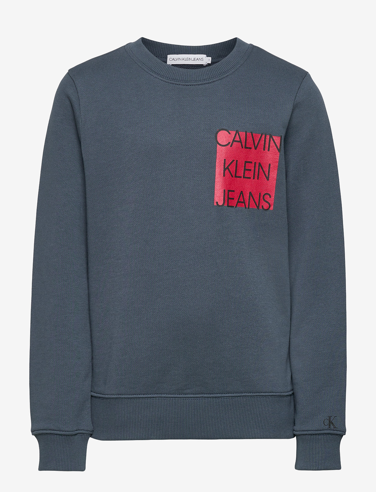 Calvin Klein - LOGO CHEST BOX SWEATSHIRT - sweatshirts - orion blue - 0