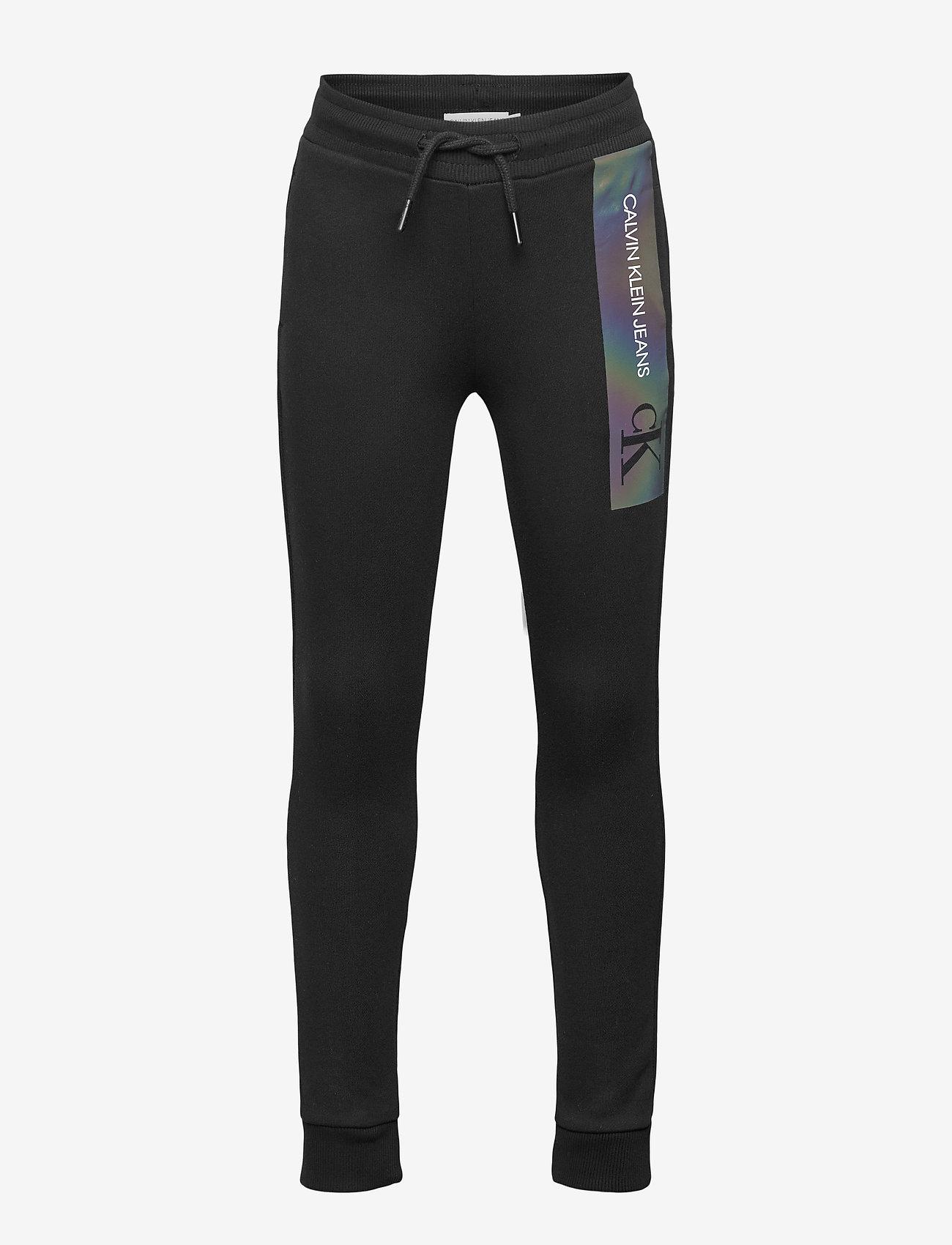 Calvin Klein - REFLECTIVE LOGO SLIM FIT PANTS - jogginghosen - ck black - 0