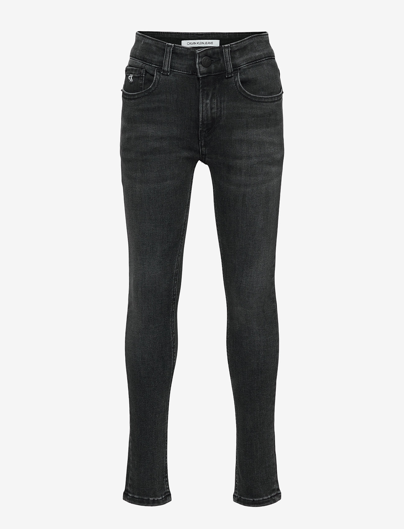 Calvin Klein - SUPER SKINNY MONOGRAM BLK STR - jeans - monogram black stretch - 0