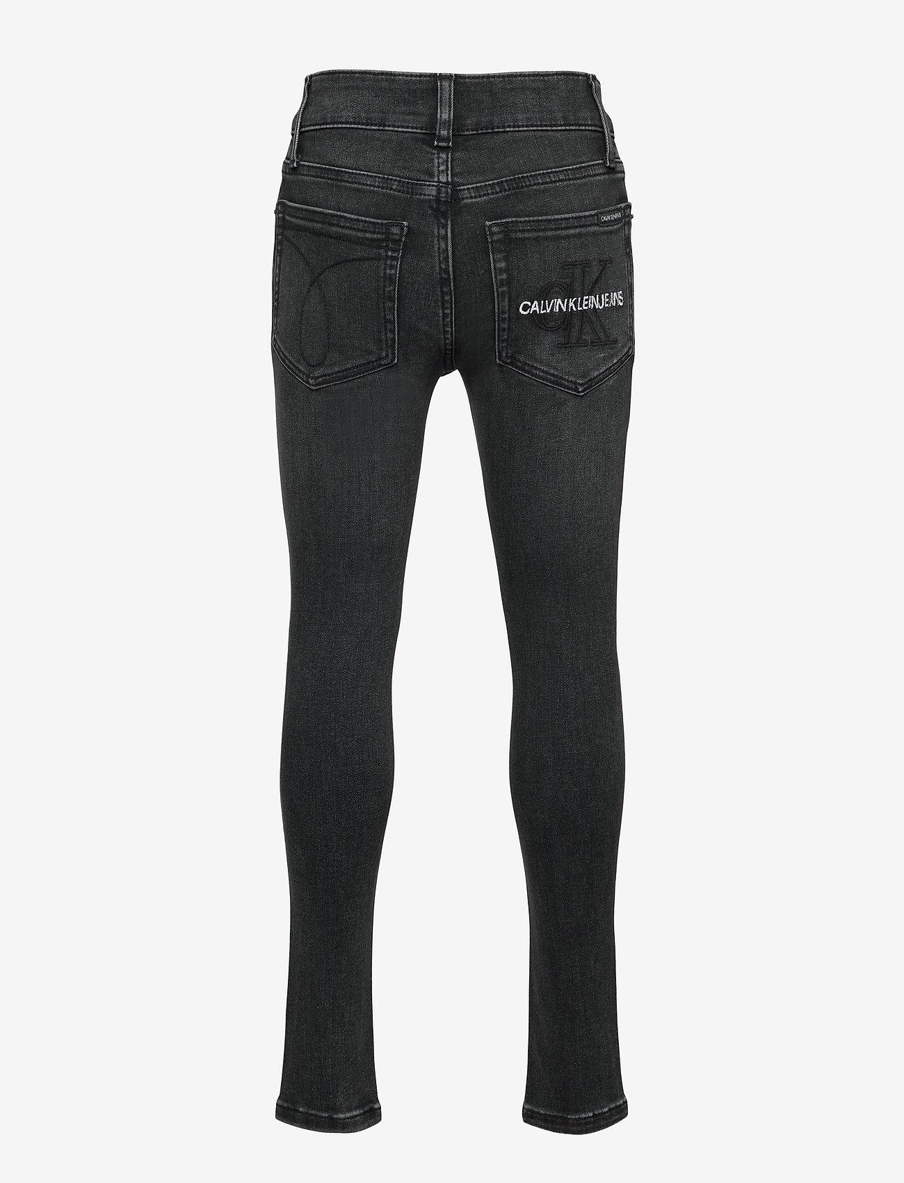 Calvin Klein - SUPER SKINNY MONOGRAM BLK STR - jeans - monogram black stretch - 1