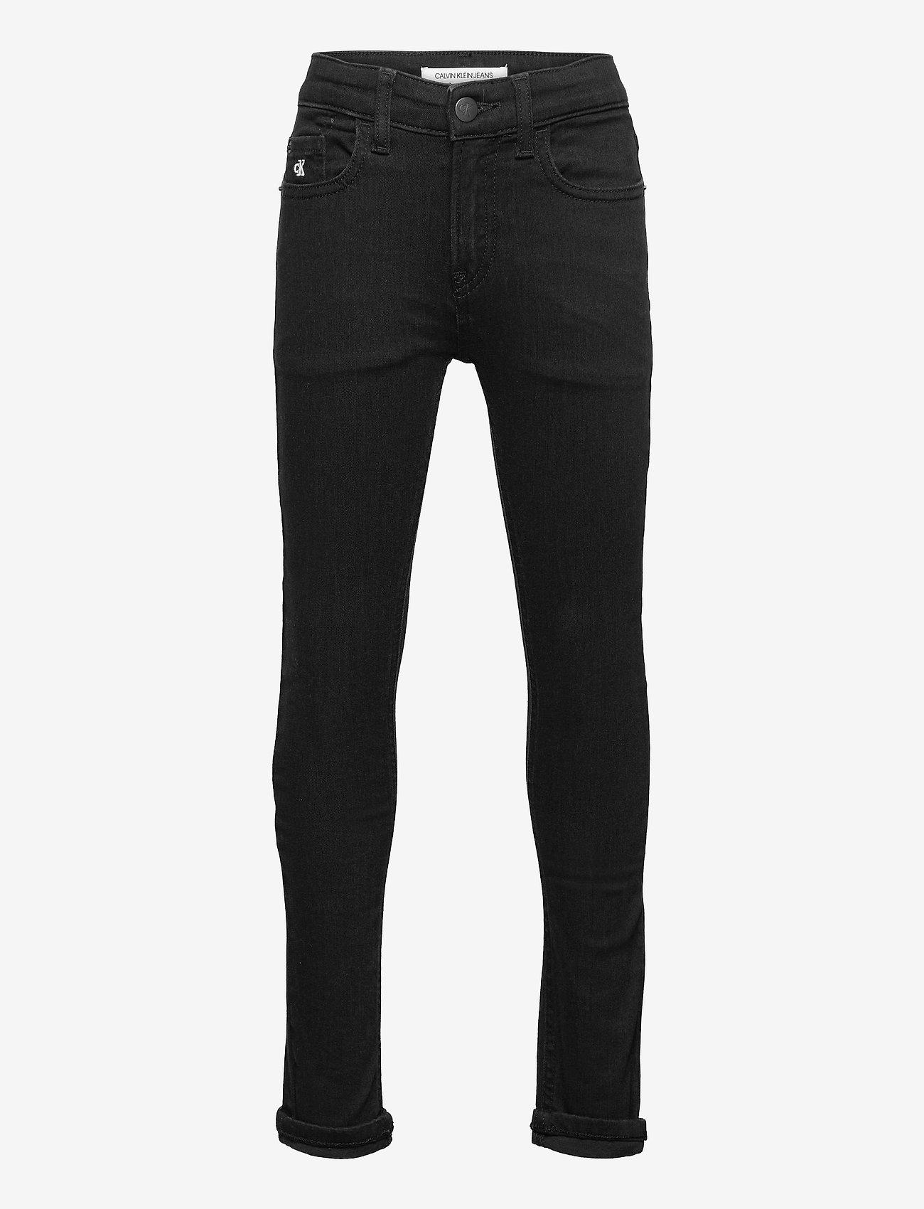 Calvin Klein - SKINNY CL BLK STR - jeans - clean black stretch - 0