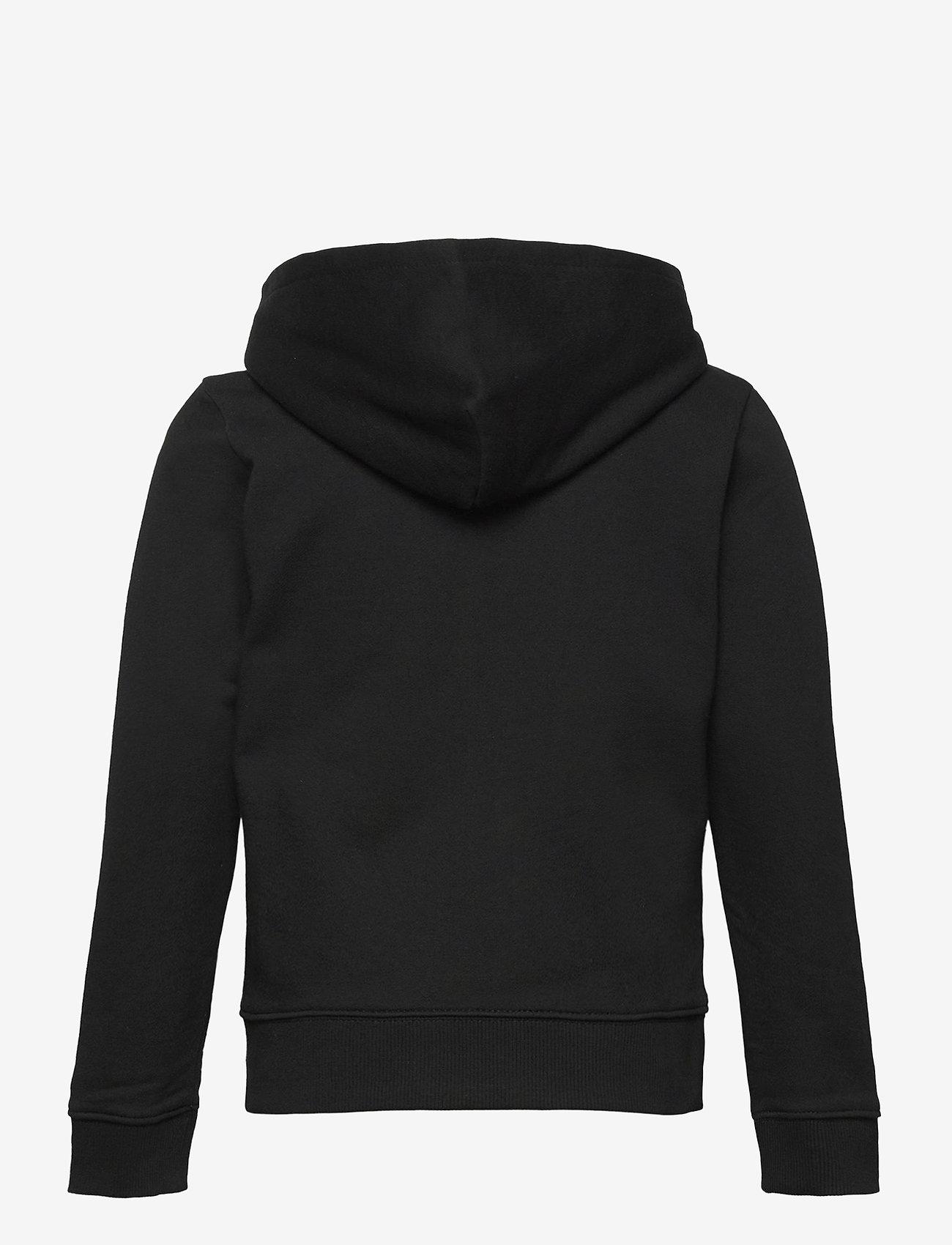 Calvin Klein - HYBRID LOGO ZIP THROUGH - kapuzenpullover - ck black - 1