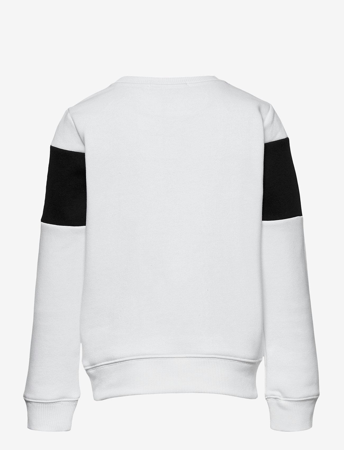 Calvin Klein - COLOUR BLOCK LOGO SWEATSHIRT - sweatshirts - bright white - 1