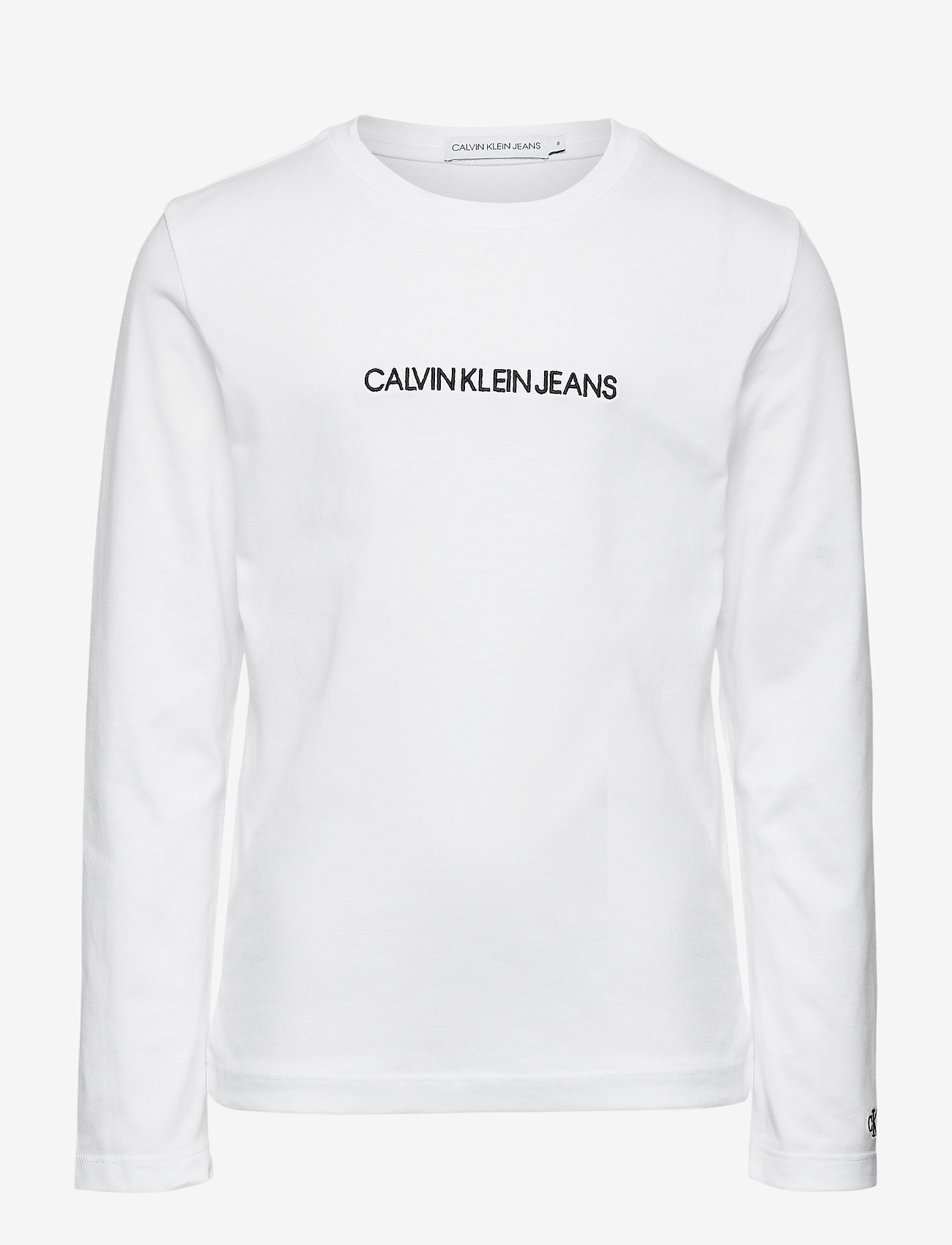 Calvin Klein - SMALL INSTITUTIONAL LS T-SHIRT - langärmelig - bright white - 0