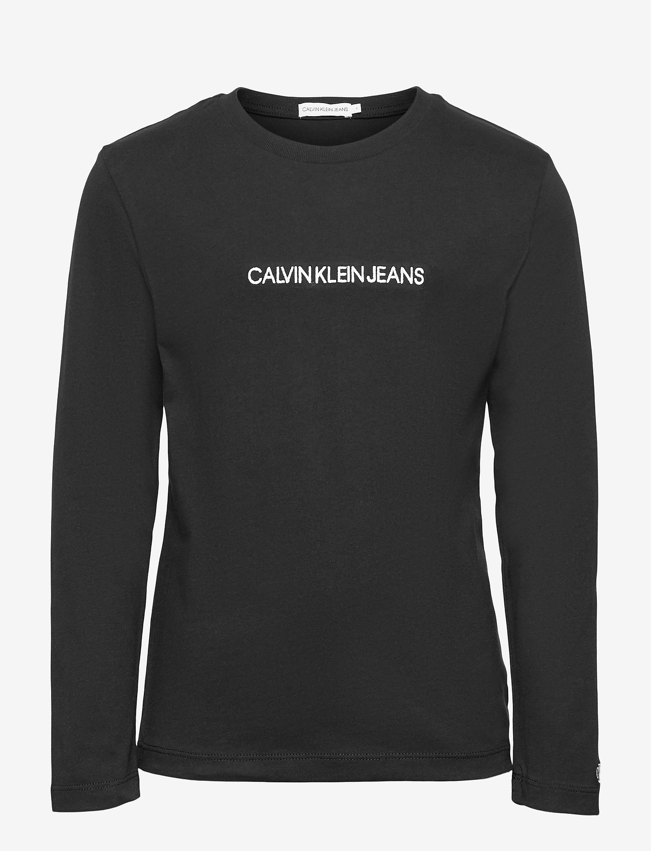 Calvin Klein - SMALL INSTITUTIONAL LS T-SHIRT - langärmelig - ck black - 0