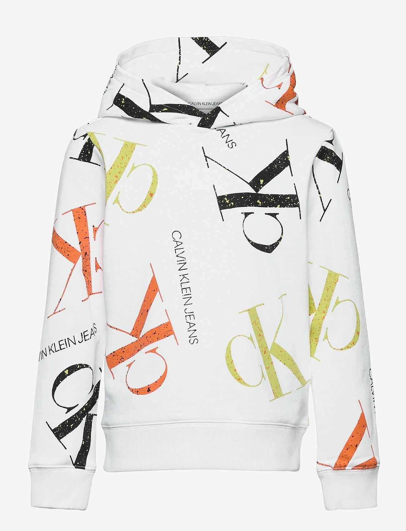 Calvin Klein - PAINT AOP HOODIE - kapuzenpullover - monogram paint splatter aop - 0