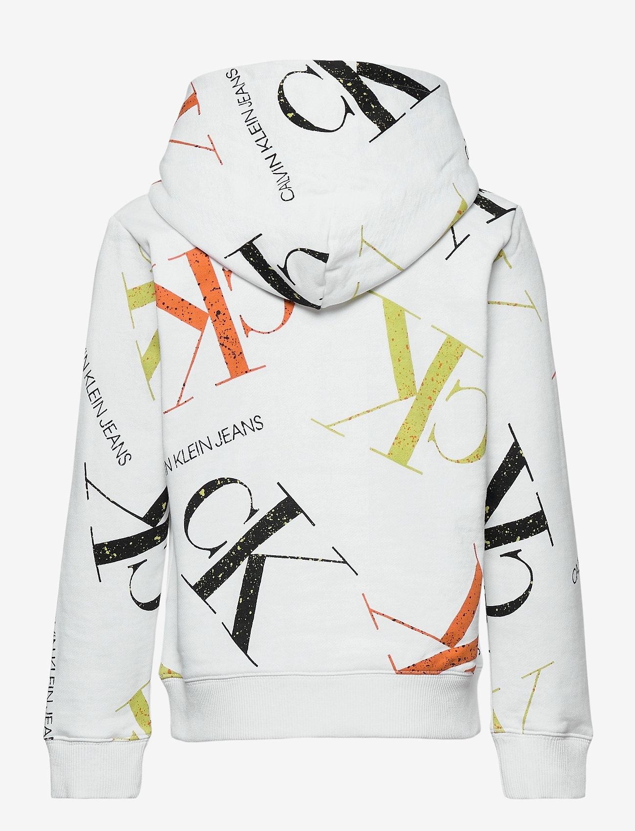 Calvin Klein - PAINT AOP HOODIE - kapuzenpullover - monogram paint splatter aop - 1