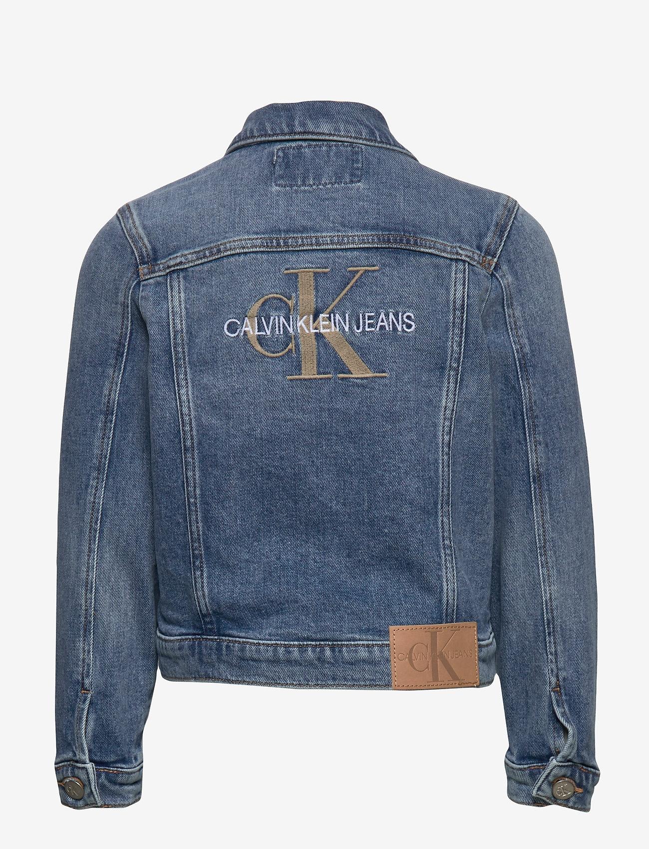 Calvin Klein - GIRLS TRUCKER - MNGR POWD CMF - jeansjacken - monogram powdery comfort - 1