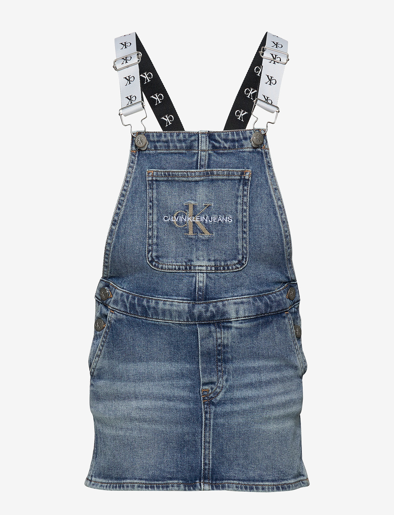 Calvin Klein - DUNGAREE DRESS MNGR - jurken - monogram powdery comfort - 0