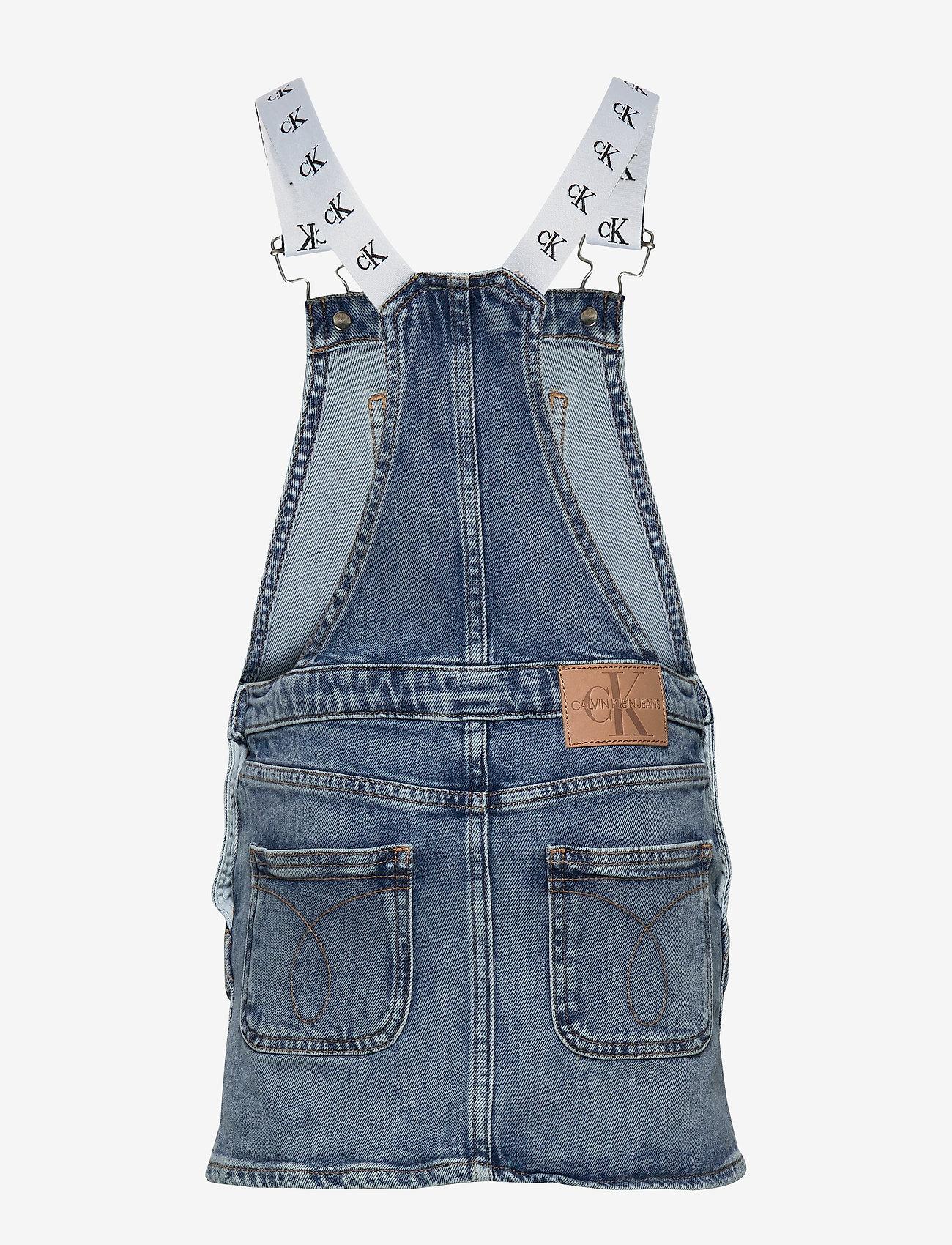 Calvin Klein - DUNGAREE DRESS MNGR - jurken - monogram powdery comfort - 1