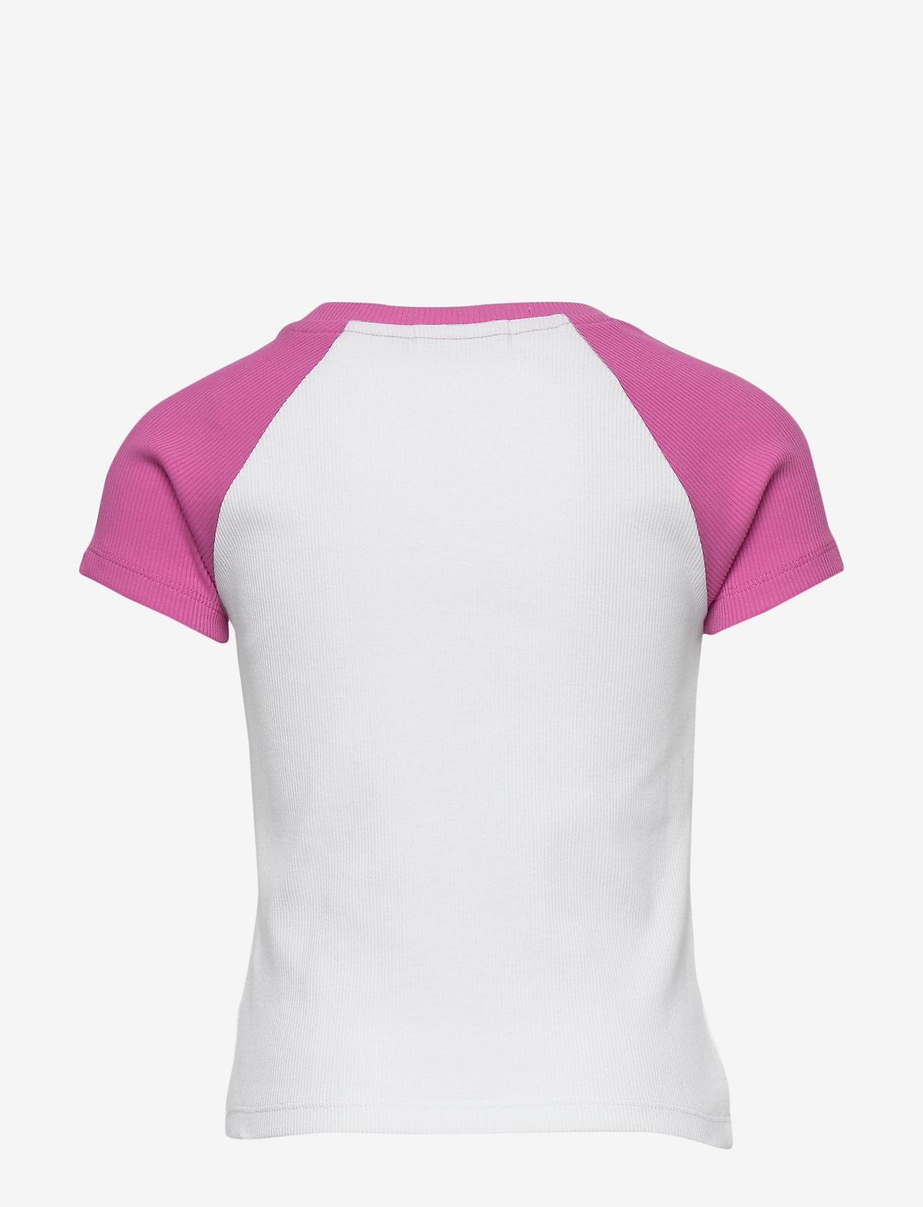 Calvin Klein - COLORBLOCK RIB SS TOP - korte mouwen - vivid pink - 1
