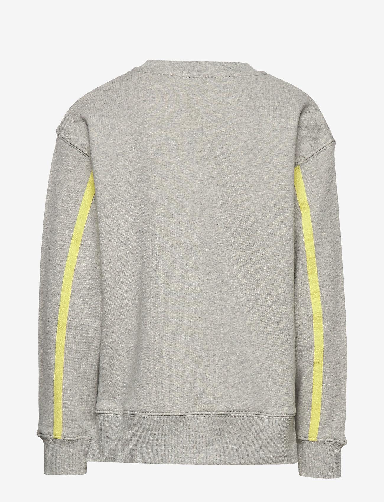 Calvin Klein - MONOGRAM STRIPE SWEATSHIRT - sweatshirts - light grey heather - 1