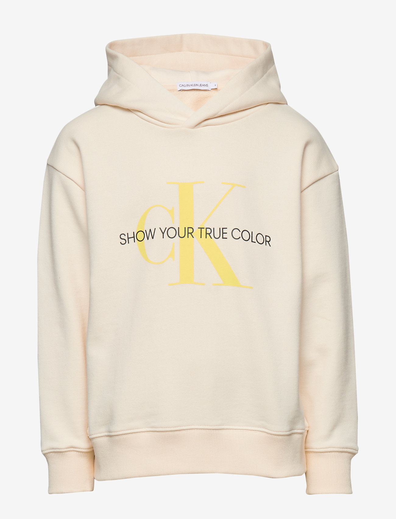 Calvin Klein - NATURAL DYE MONOGRAM - hoodies - lemon splash - 0